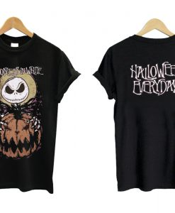 Motionless in White Jack Skellington band T shirt Twoside