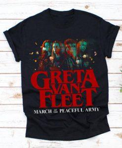 Anthem of HOT Peaceful Army Greta World Tour 2019, Greta Van Fleet Rock Unisex T-shirt