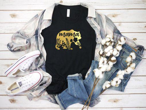 Mama Bear Shirt, Mom Shirt Womens T shirt