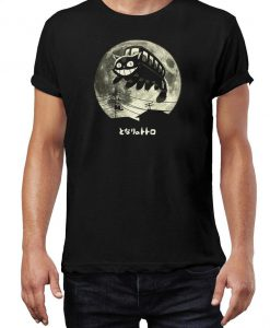 Studio Ghibli T-Shirt Ladies & Men's Unisex Fit Gildan Tee Shirt - CATBUS MOON