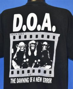 90s DOA The Black Spot Album Dawning New Error t-shirt Back