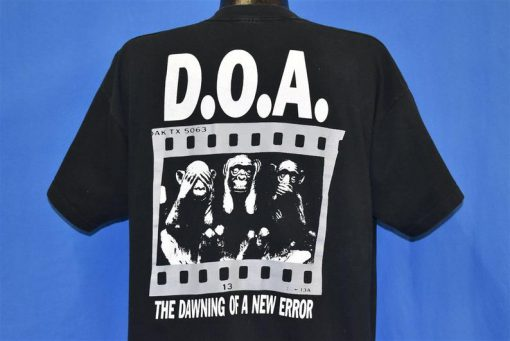 90s DOA The Black Spot Album Dawning New Error t-shirt Back