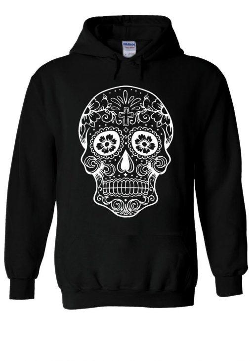 Calavera Sugar Skull Hipster Tumblr Hoodie