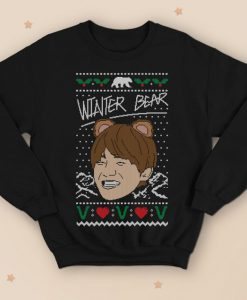 V Winter Bear Christmas Sweater Jumper Funny Kim Tae-hyung Kpop Kpop Fangirl Cute Kawaii
