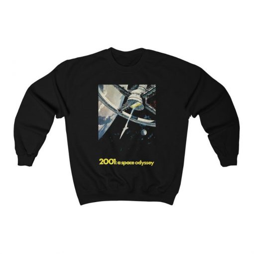 2001 A Space Odyssey (1968) Poster Sweatshirt, 60s Sci-Fi Movie, Adult Mens & Womens Jumper