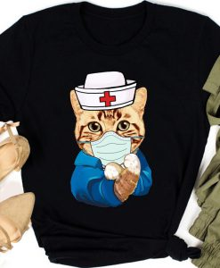 Strong Cat Is Wearing Mask Face Anti Virus 2020 T-shirt