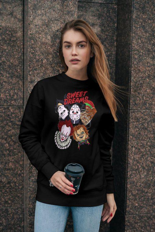 Sweet Dreams Horror Movie, Pennywise, Friday The 13th, Jason Voorhees, Nightmare On Elm Street Freedy Krueger, Jason Sweatshirt