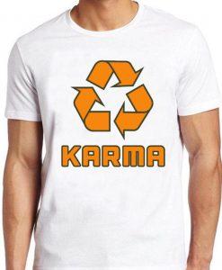 Karma T Shirt Recycle Symbol Good Karma Comes Around Buddha Vintage Yoga Tee